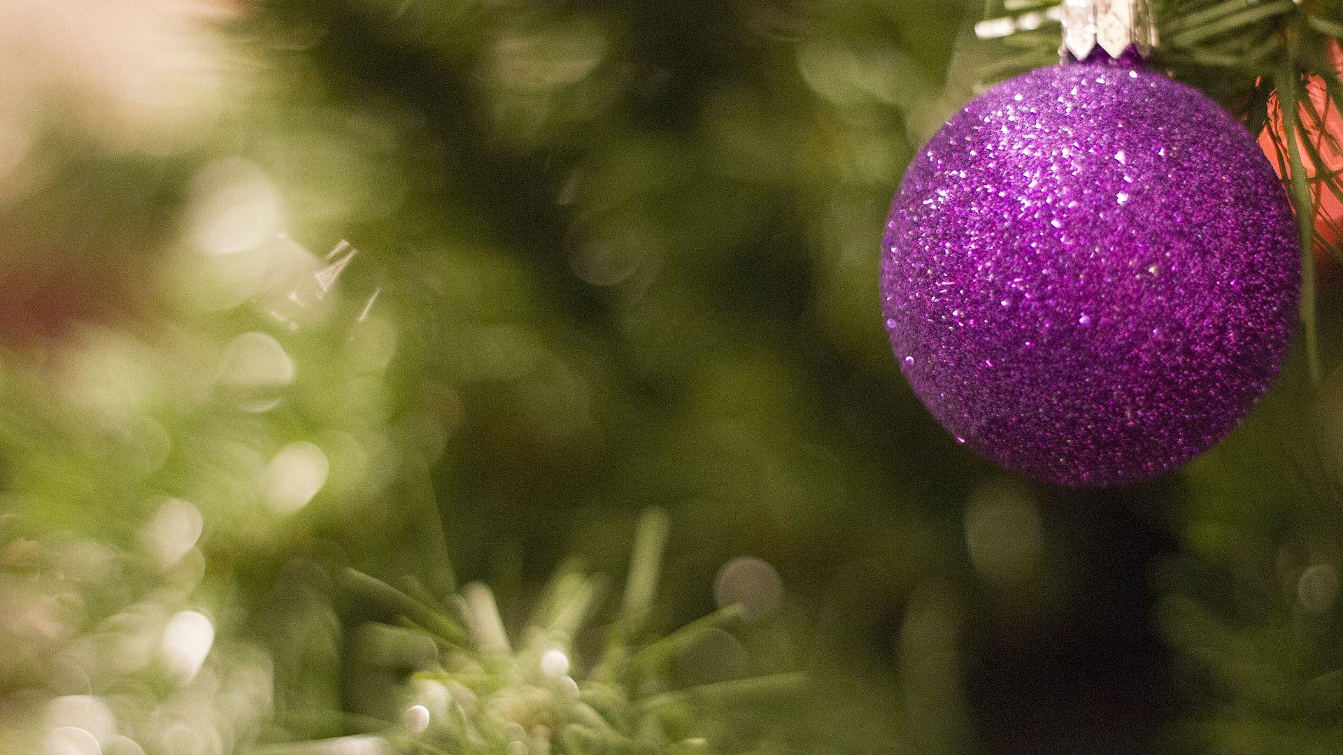 Wallpaper Christmas, xmas ornament, blur