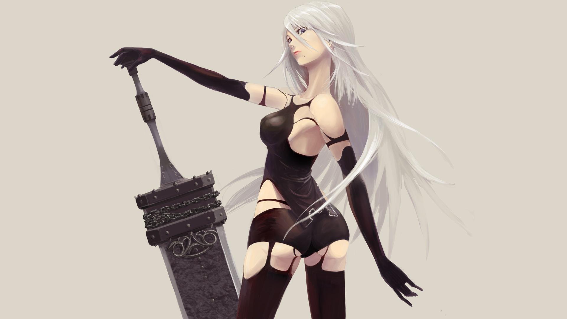Desktop Wallpaper Yorha A2 Nier Automata Video Game Girl Warrior Hd Image Picture Background Zac0ry