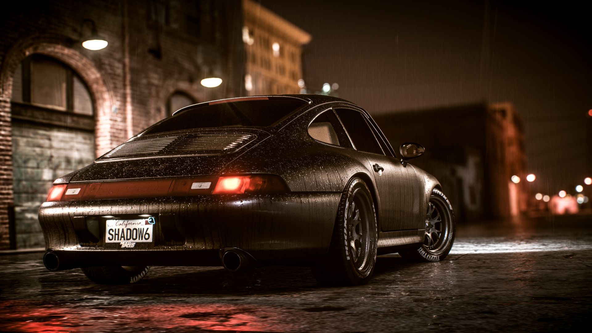 Desktop Wallpaper Need For Speed Payback Sports Car Night Rain