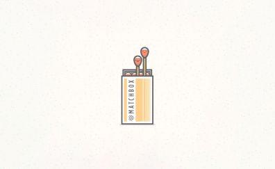 Matchbox, matches, minimal