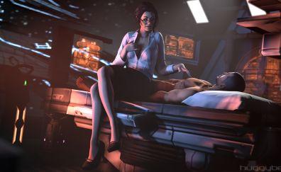 Mass Effect Video game, Miranda Lawson, Commander Shepard