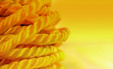 Yellow thread, rope