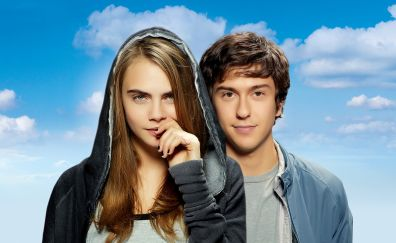 Paper Towns, 2015 movie, Cara Delevingne, Nat Wolff, lead actors