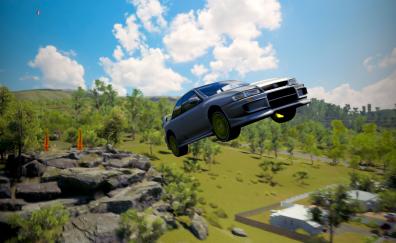 Subaru car in forza horizon 3 video game wallpaper