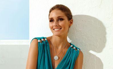 Olivia Palermo, blonde, beautiful model, smile