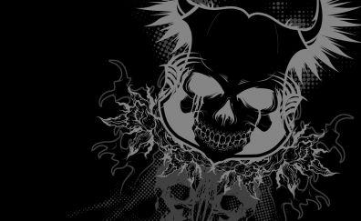Harley davidson, skull artwork, abstract