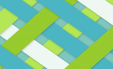 Stripes crossing of green blue white, material design