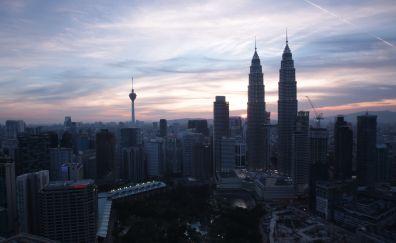 Kuala Lumpur, Twin towers, Petronas Towers, buildings
