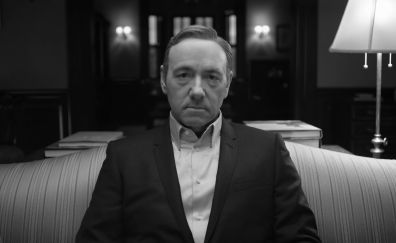 Kevin Spacey, House of Cards, monochrome, TV actor