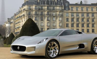Jaguar C-X75 electric hybrid car