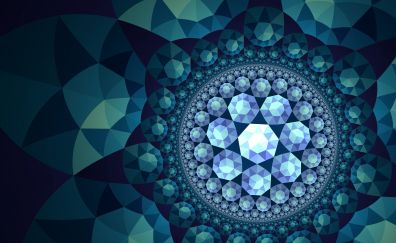 Fractal, pattern, circles, abstract