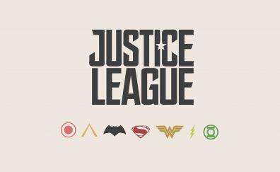 Justice League, typography, logo, minimal