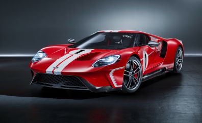 2018 Ford GT '67 Heritage Edition, sports car, 4k