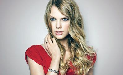 Blue eyes, long hair, Taylor Swift, blonde, woman
