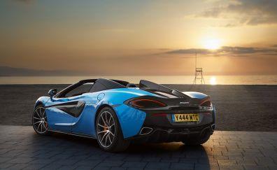 2018 McLaren 570S spider, rear view, sports car