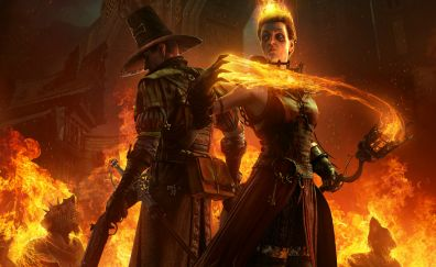 Warhammer: End Times - Vermintide, video game, dark, game
