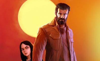 Logan, 2017 movie, wolverine, artwork