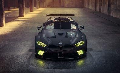 BMW M8 GTE, front, car