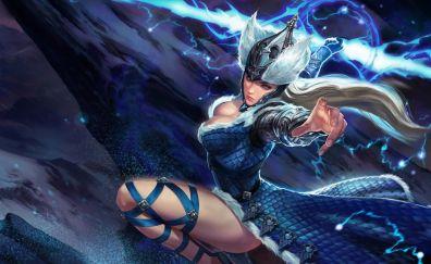 Varya, girl warrior, vainglory, video game