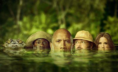 Jumanji: Welcome to the Jungle, lake, movie, forest
