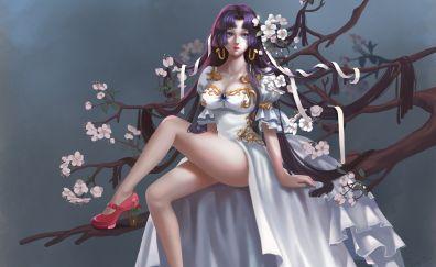 Boa Hancock, One Piece, anime girl, art, 4k