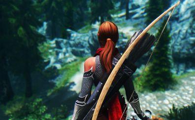 The Elder Scrolls V: Skyrim, video game, archer, 4k