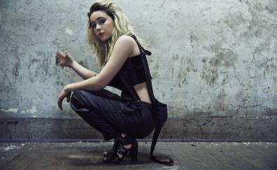Bea Miller, sitting, blonde, celebrity