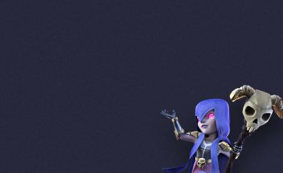 Witch, clash of clans, artwork, minimal