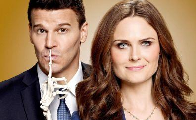 Bones TV series, lead cast, Emily Deschanel, David Boreanaz