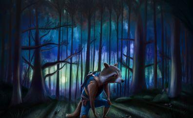 Rocket Raccoon, Guardians of the Galaxy, artwork