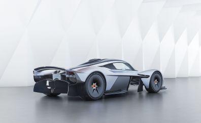 Sports car, white, Aston Martin Valkyrie