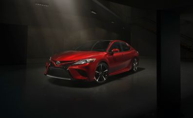 2017 Toyota Camry XSE, red car