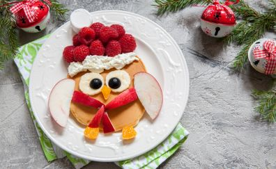 Breakfast, pancake, raspberry, food