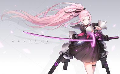 Anime girl, forever 7th capital, warrior