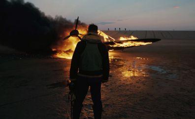 Dunkirk, movie, soldier, fire, 2017