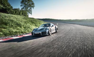 Porsche 911 GT2, sports car, running