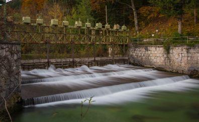 Dam on river
