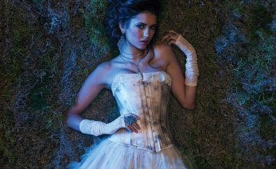 Nina dobrev, beautiful, white dress
