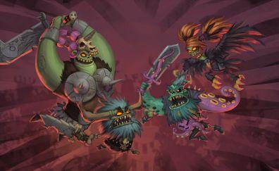 Zombie Vikings, warriors, zombie, video game