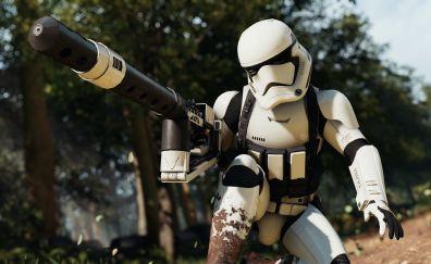 Star wars battlefront ii, video game, stormtrooper, game, 4k