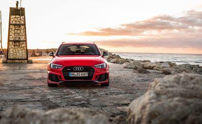 Audi RS4, front, luxury car, 4k