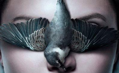 Thelma, 2017 movie, bird, face, 4k