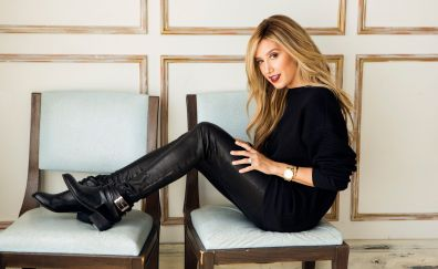 Ashley tisdale, sitting on chairs, blonde