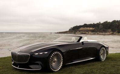 Vision mercedes maybach 6 cabriolet,  2017 cars, sideview, 4k