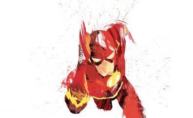 The flash, superhero, run, art