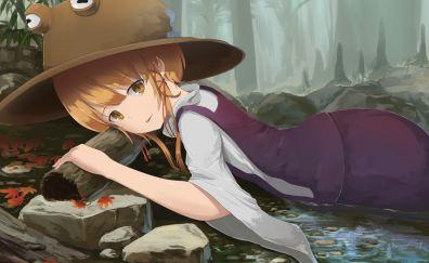 Outdoor, Suwako Moriya - Touhou, anime girl