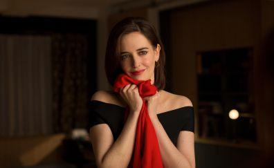 Eva green, celebrity, smile, 5k