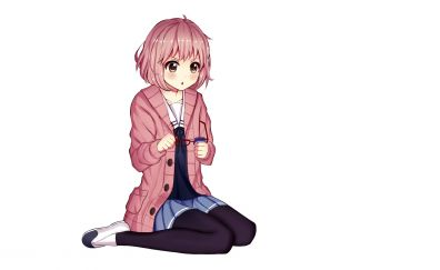 Cute, amazed, anime girl, Mirai Kuriyama, Kyoukai no Kanata
