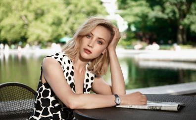 Sarah Gadon, actress, wrist watch
