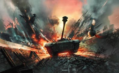 War thunder, video game, tanks, 5k